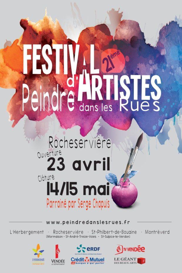 21e festival d'artistes Peindre dans les rues Rocheservière