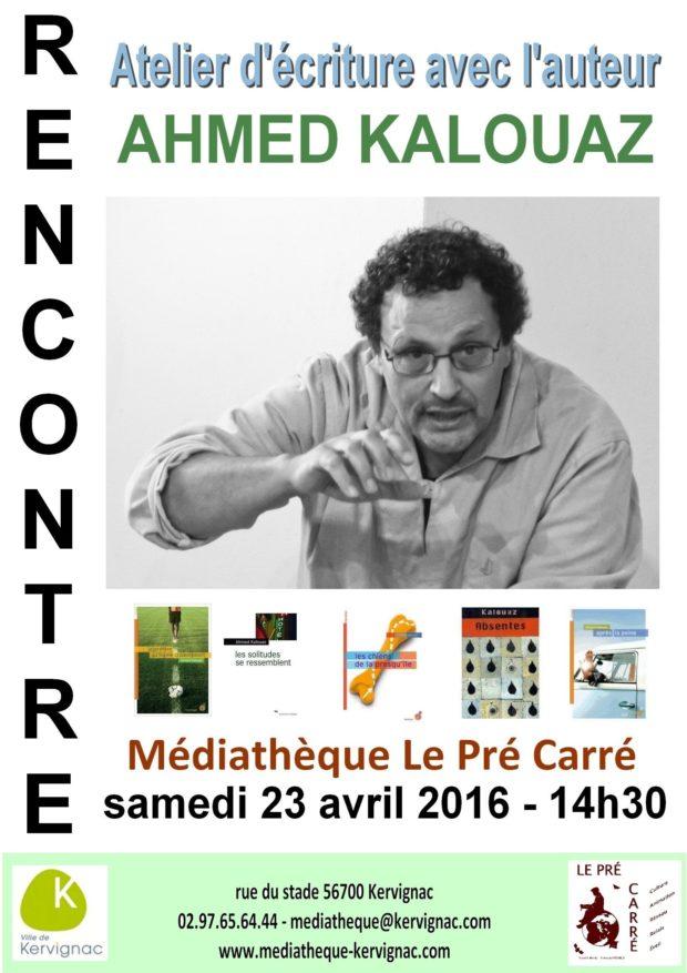 Atelier d'écriture avec l'auteur Ahmed Kalouaz Kervignac