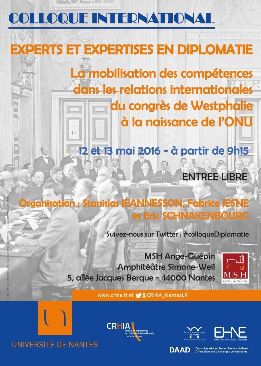 Colloque international Experts et expertises en diplomatie Nantes