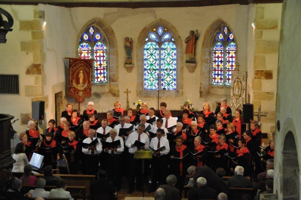 Les Chanteurs d'Argoat de Loudéac pour l'association Haïti chéri Les Moulins