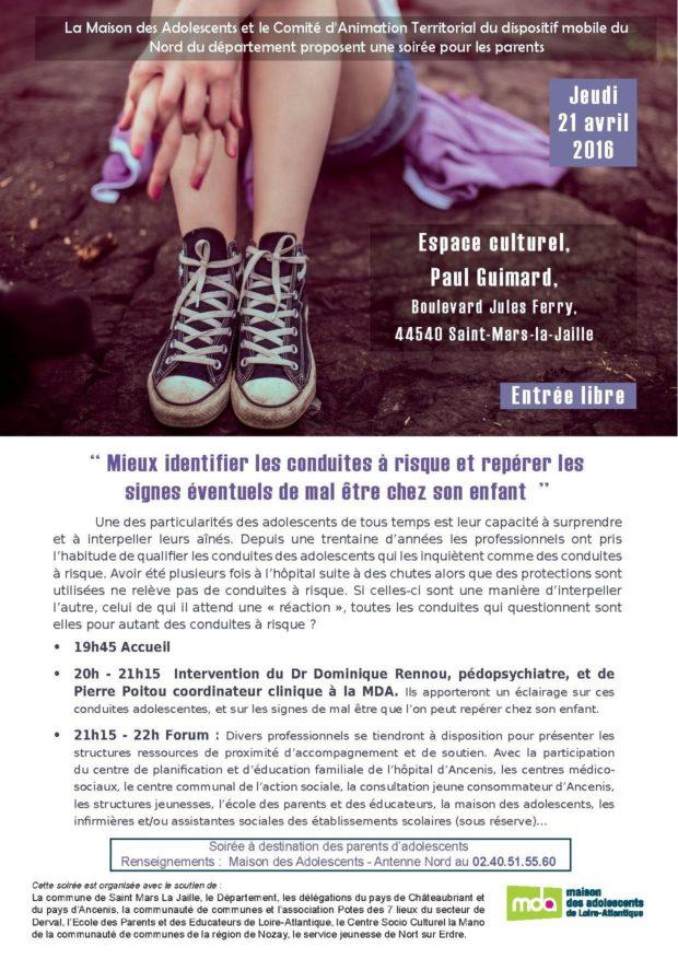Conduites à risques et signes de mal-être chez l'adolescent Saint-Mars-la-Jaille