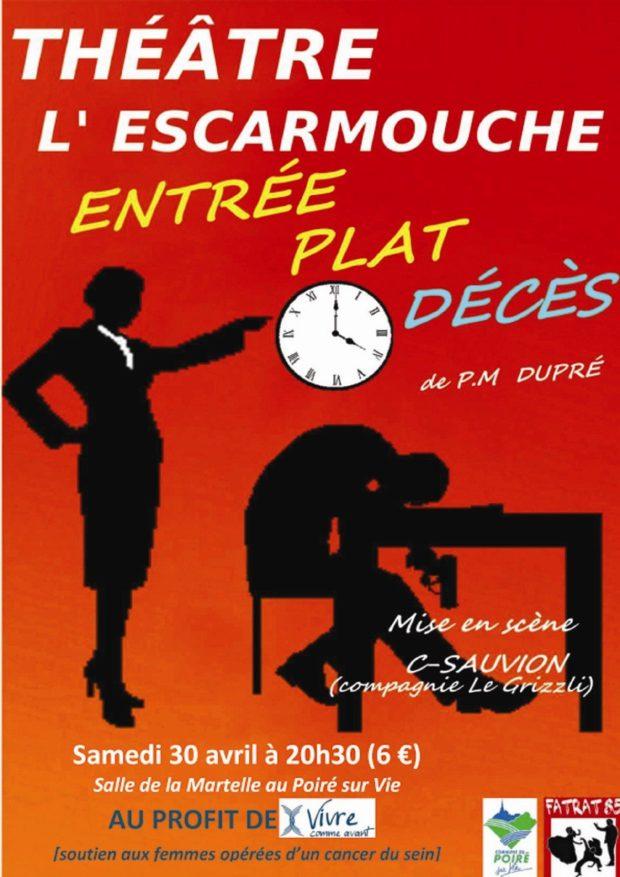 Entrée, plat, décès de Pierre-Marie Dupré Le Poiré-sur-Vie