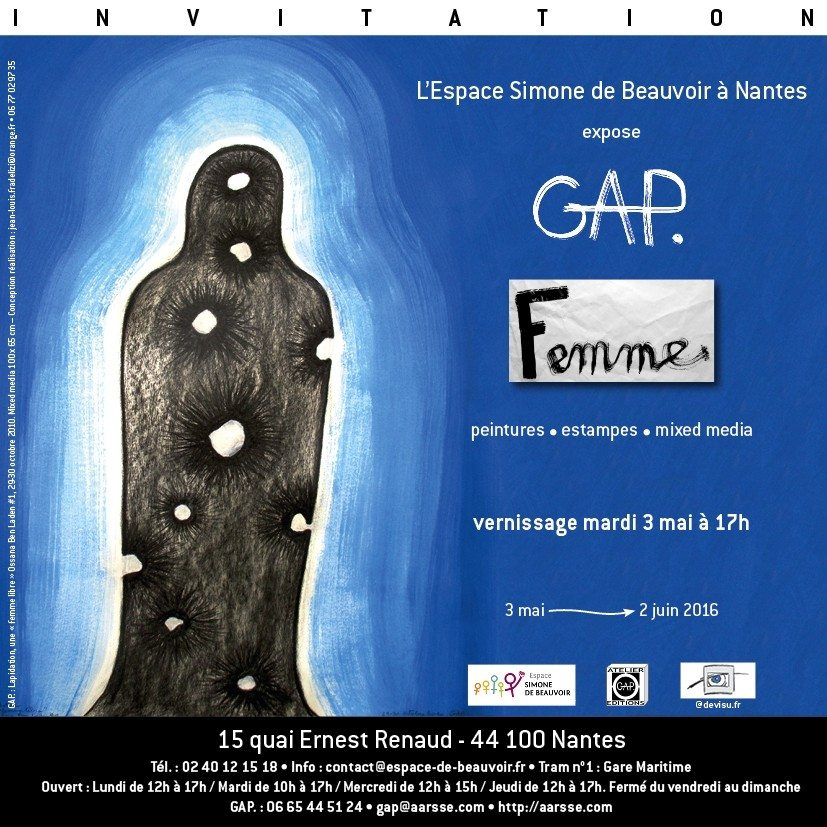 Exposition Femme de Gap, peintures, estampes et mixed media Nantes