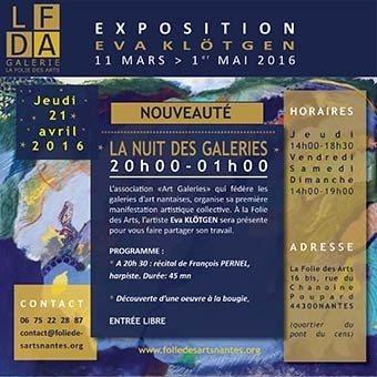 La Nuit des galeries à la Folie des Arts Nantes