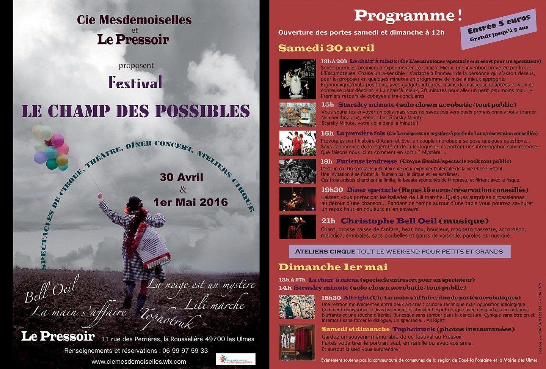 Le champ des possibles (Festival spectacles vivants) Les Ulmes