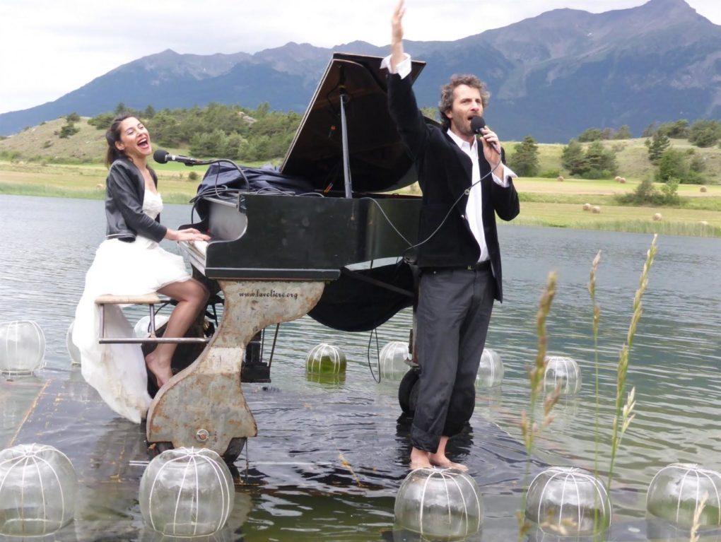 Le pianO du lac, concert flottant Monnaie