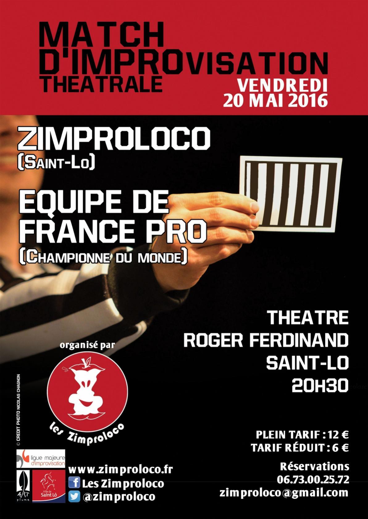 Match d'impro Zimproloco - Equipe de France Professionnelle Saint-Lô