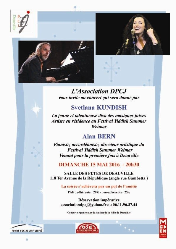 Musiques juives yiddish Deauville