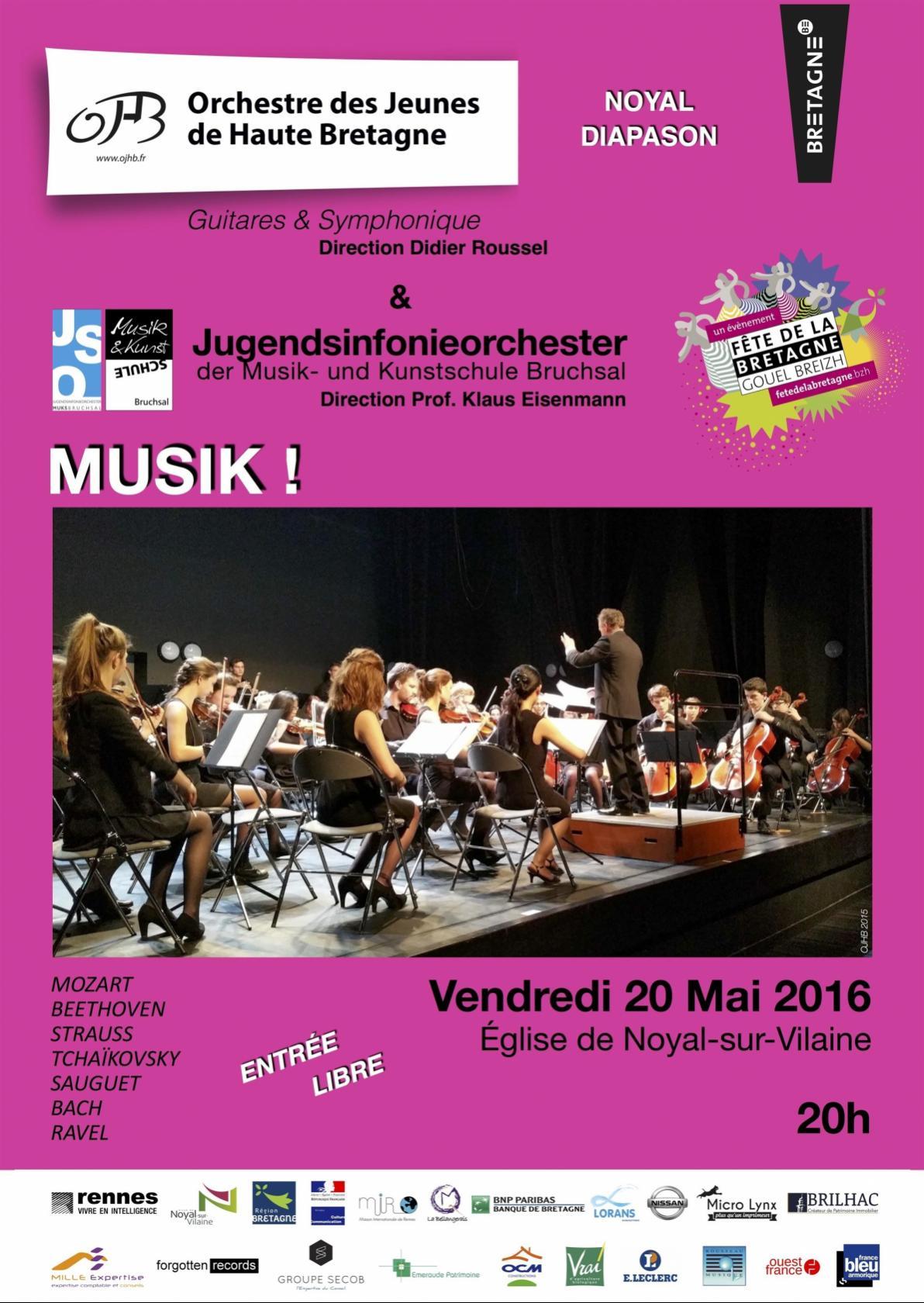 Muzik ! avec l'Orchestre des Jeunes de Haute Bretagne Noyal-sur-Vilaine