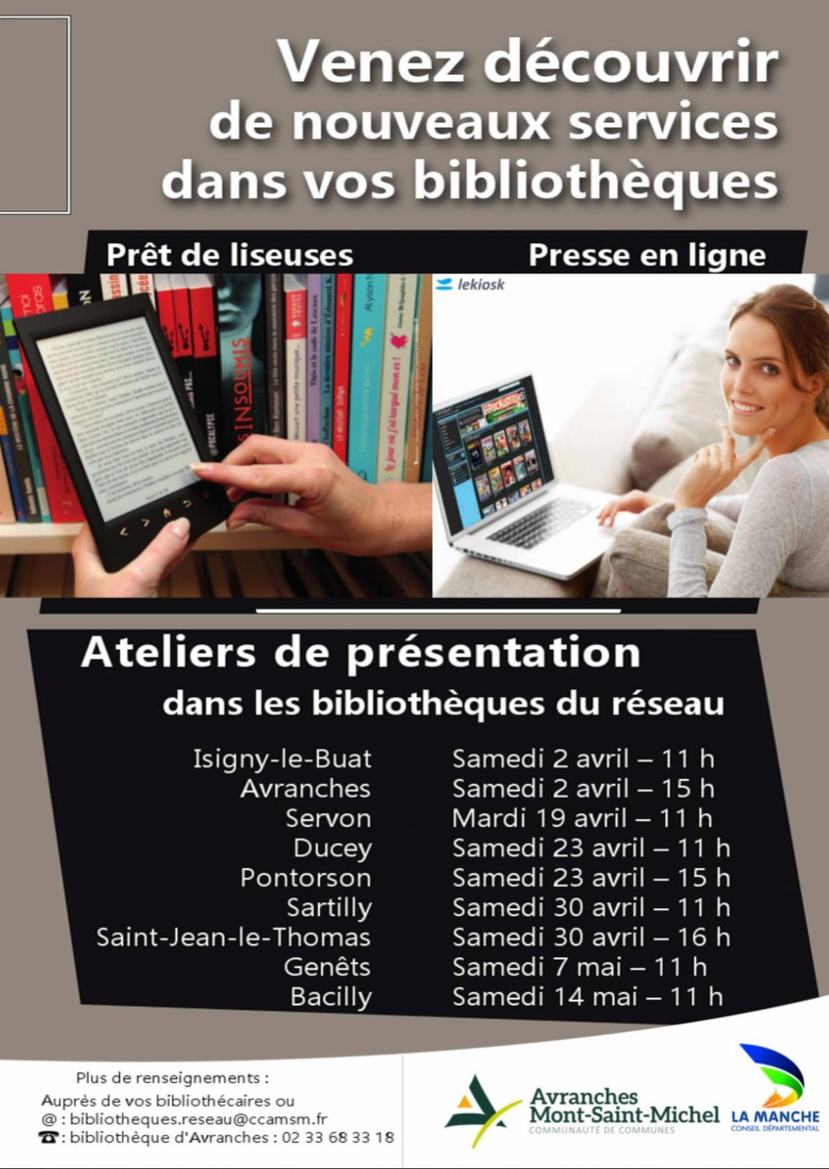 Nouveaux services dans les bibliothèques Saint-Jean-le-Thomas