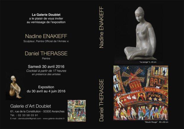 Peintures et sculptures, Daniel Thérasse et Nadine Enakieff Avranches