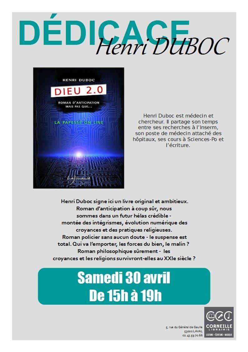 Rencontre dédicace avec Henri Duboc Laval