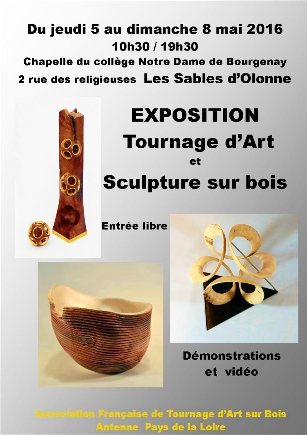 Tournage d'art et sculpture sur bois Les Sables-d'Olonne