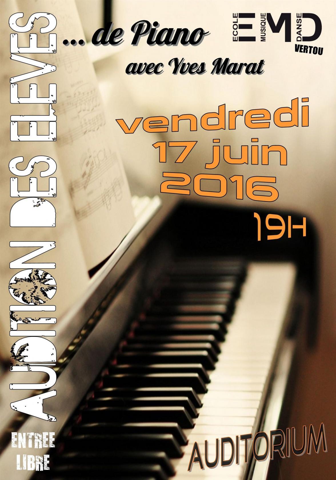 Audition des Élèves de Piano Vertou