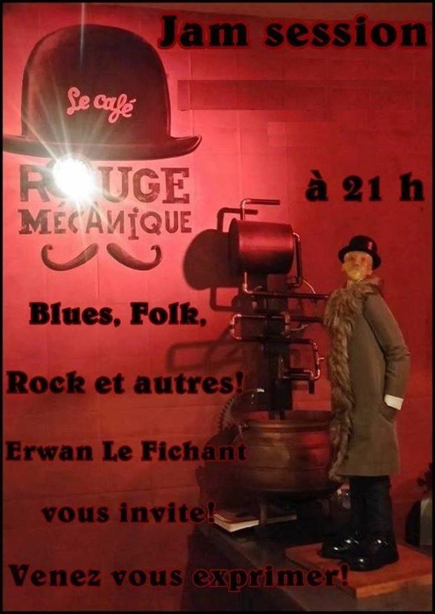 Bœuf blues folk avec Erwan et ses invités Nantes