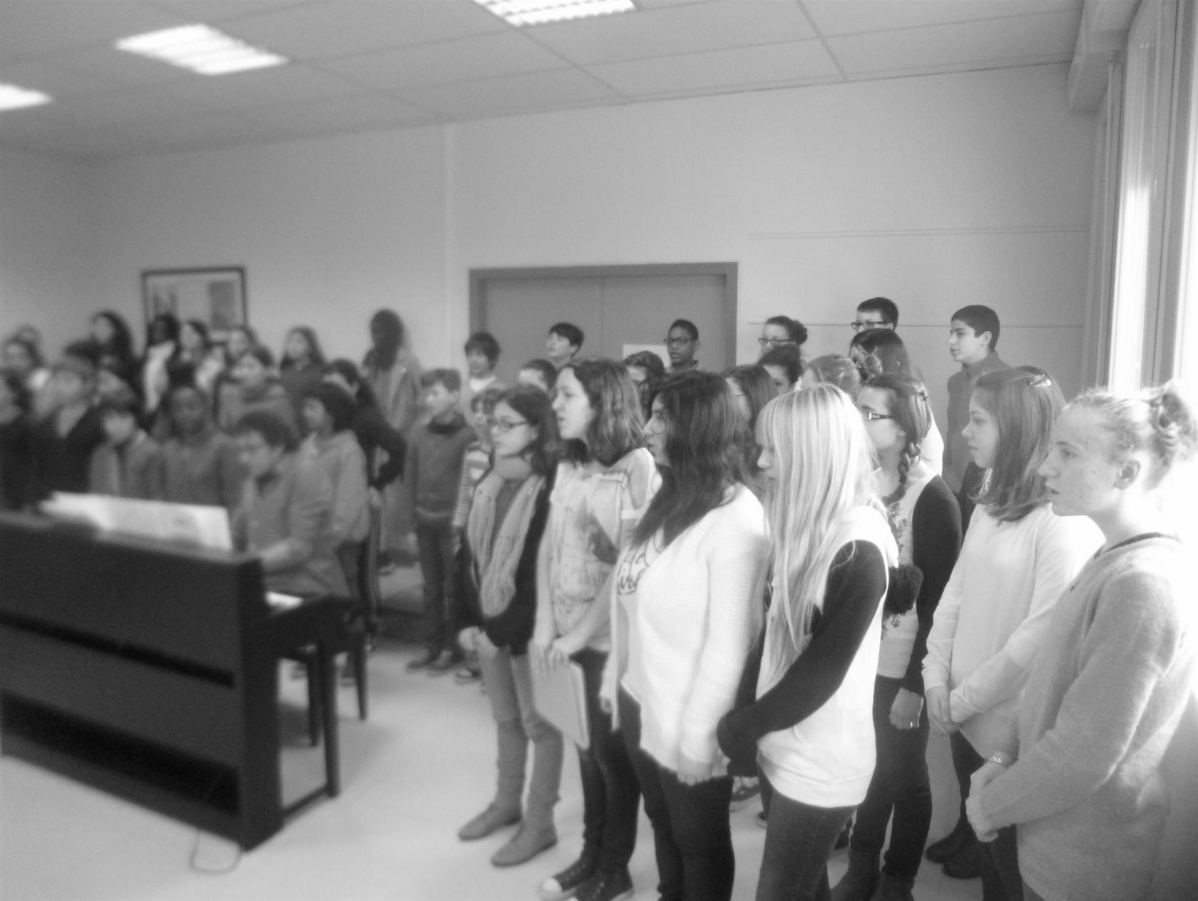 Chorale du collège Anna Marly de Brest Plougastel-Daoulas