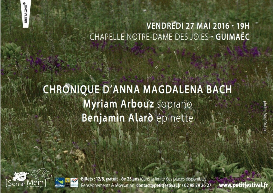 Chronique d'Anna Magdalena Bach Guimaëc