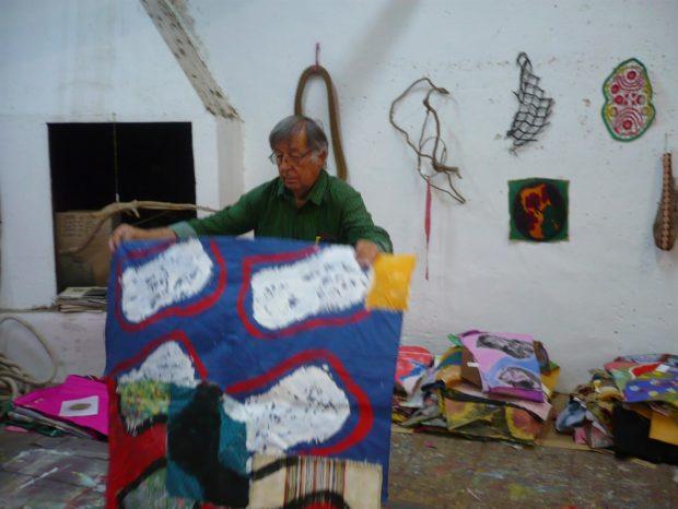 Claude Viallat exposition personnelle d'œuvres récentes