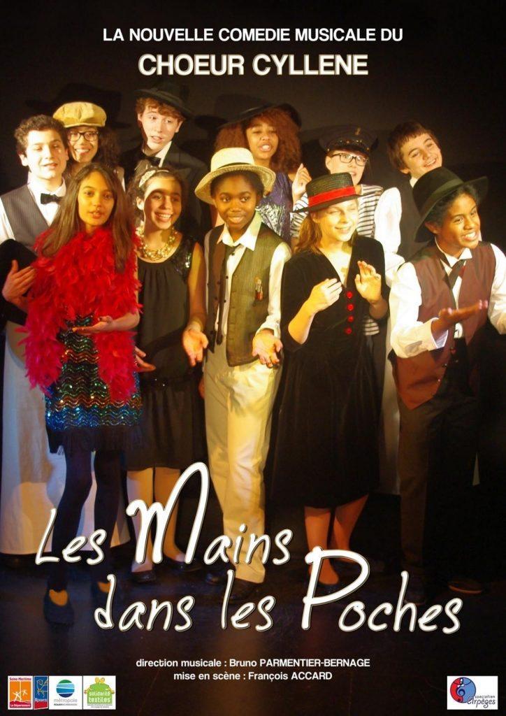 Comédie musicale Les mains dans les poches par le choeur cyllene Arromanches-les-Bains