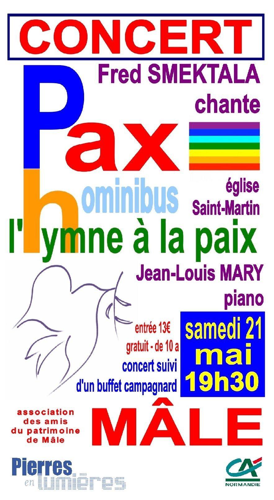 Concert de Fred Smektala Pax Hominibus l'hymne à la paix Val-au-Perche