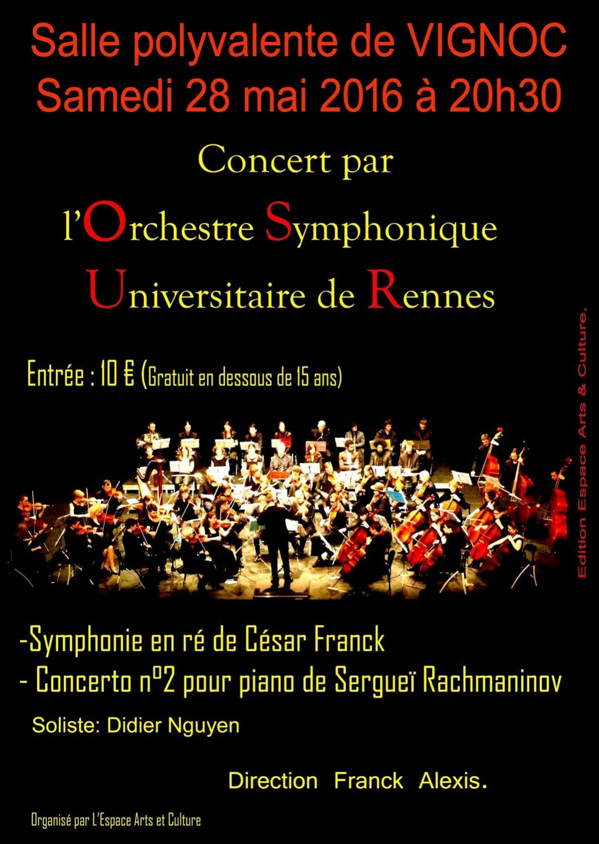 Concert de l'Orchestre universitaire de Rennes Vignoc