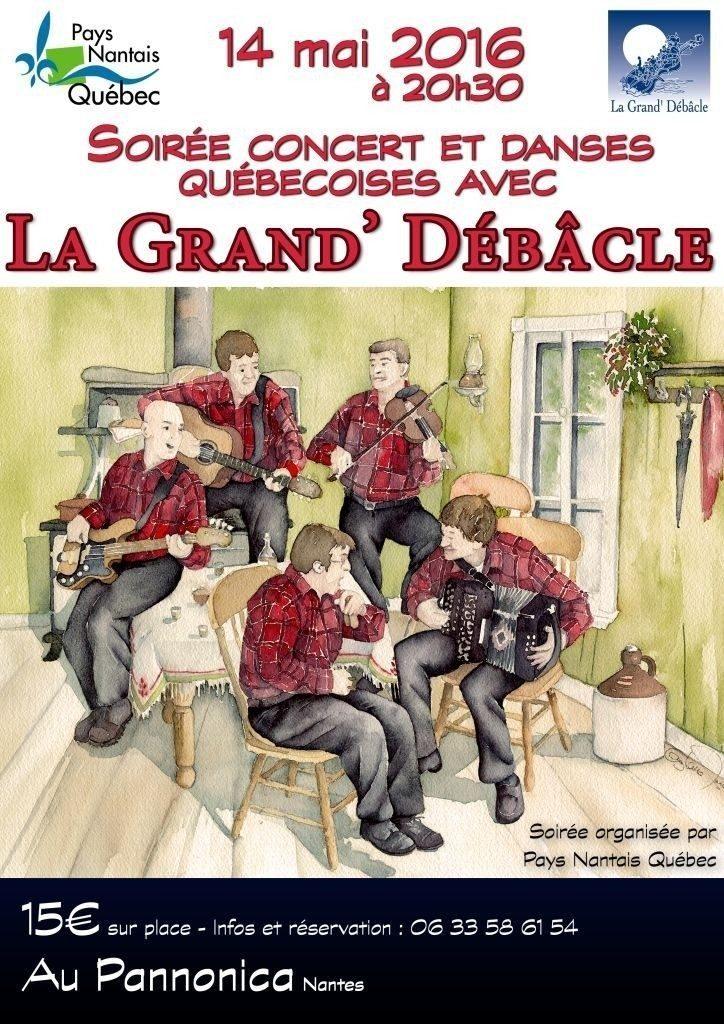 Concert et danses québécoises avec La Grand' Débâcle Nantes