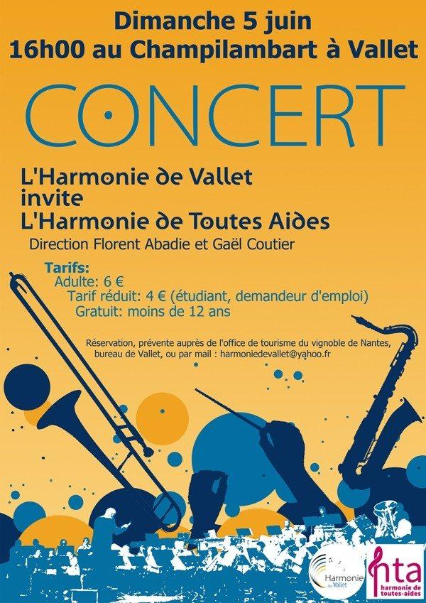Concert Harmonie de Vallet Vallet