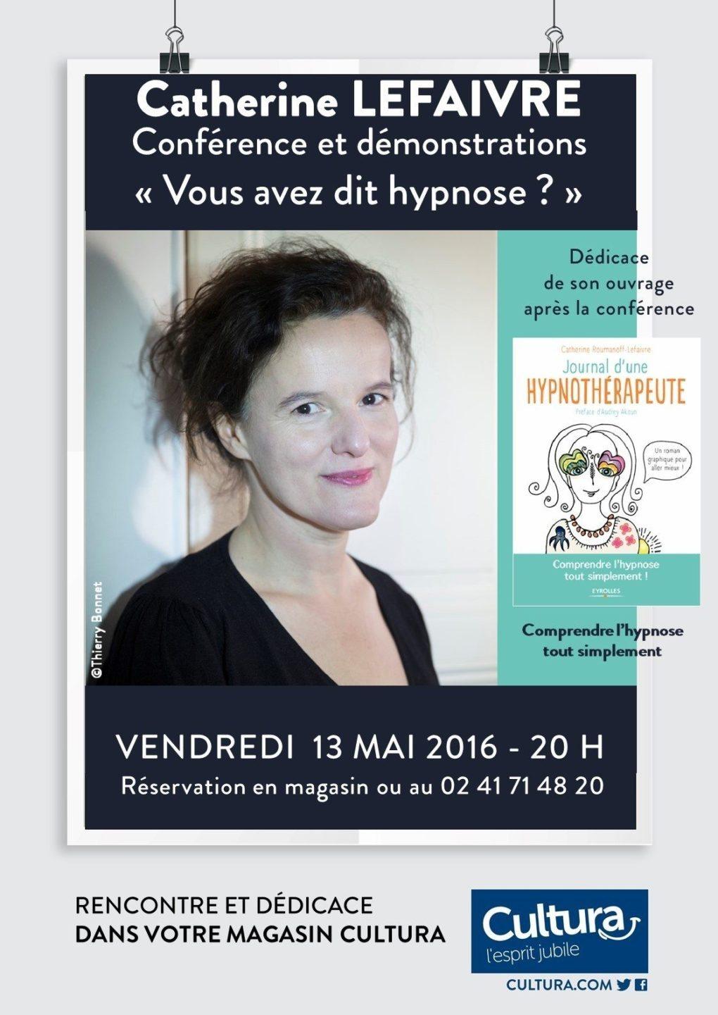 Conférence de Catherine Lefaivre : Vous avez dit hypnose ? Cholet