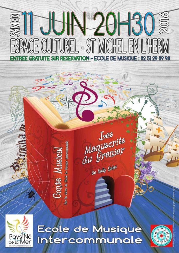 Conte musical Les Manuscrits du Grenier Saint-Michel-en-l'Herm