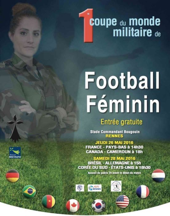 Rennes 1 re coupe du monde militaire de football f minin - 1ere coupe du monde de foot ...