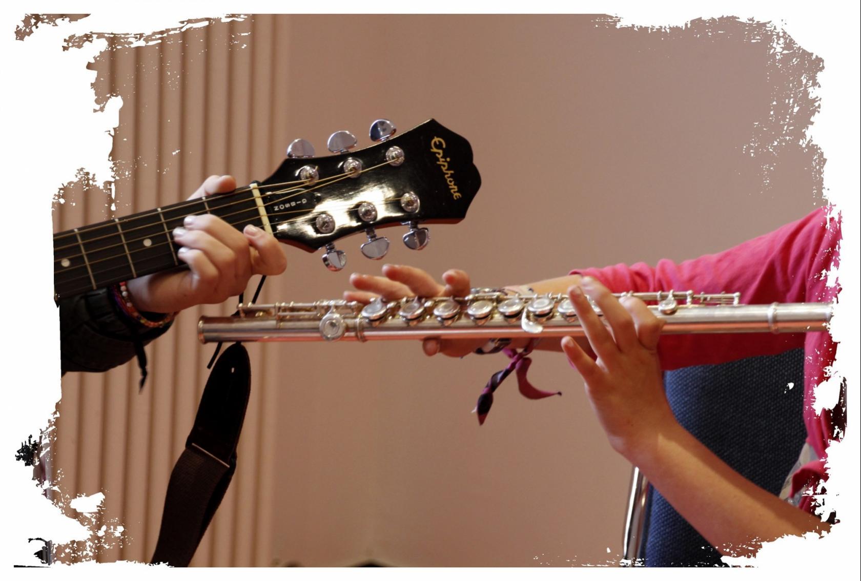 Elèves de l'école de musique des 3 rivières Pédernec