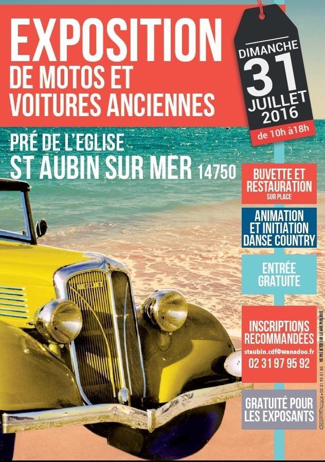 Exposition de voitures et motos anciennes Saint-Aubin-sur-Mer