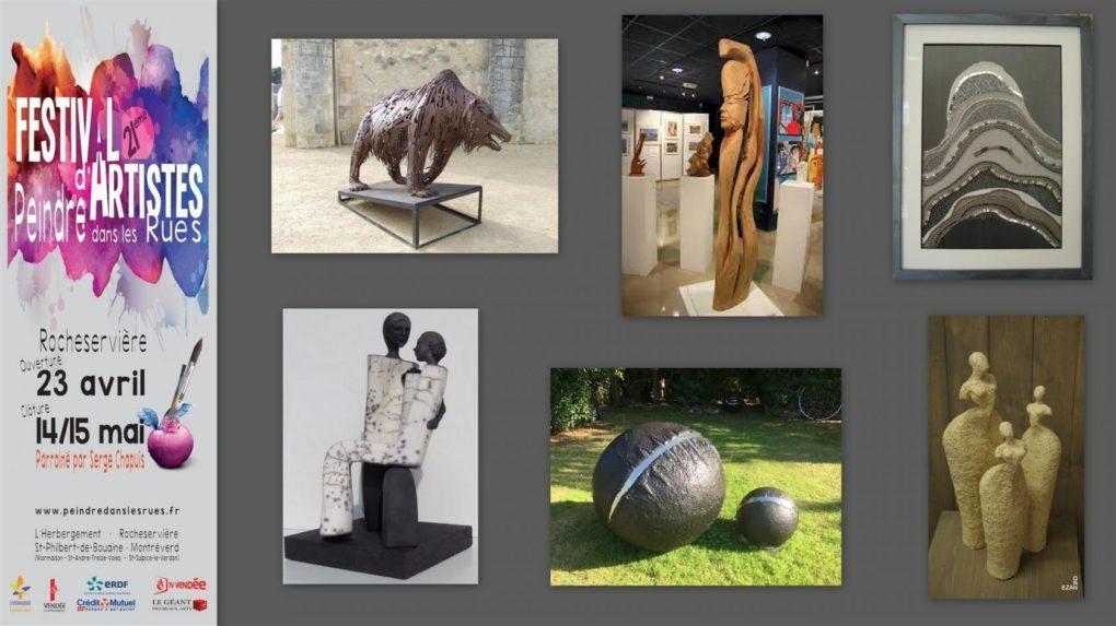 Festival d'artistes de Rocheservière, 6 sculpteurs exposent Rocheservière