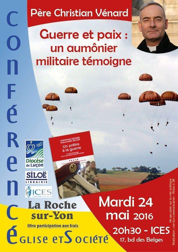 Guerre et Paix : un aumônier militaire témoigne - Père Venard La Roche-sur-Yon