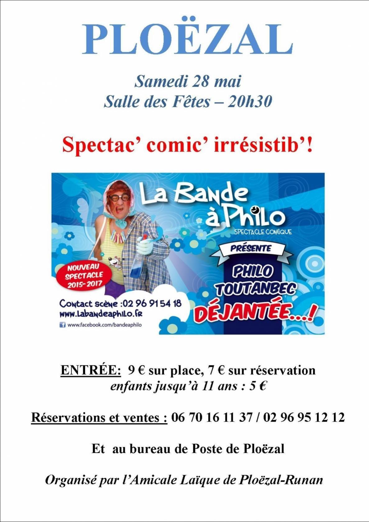 La bande à Philo : spectacle comique Ploëzal