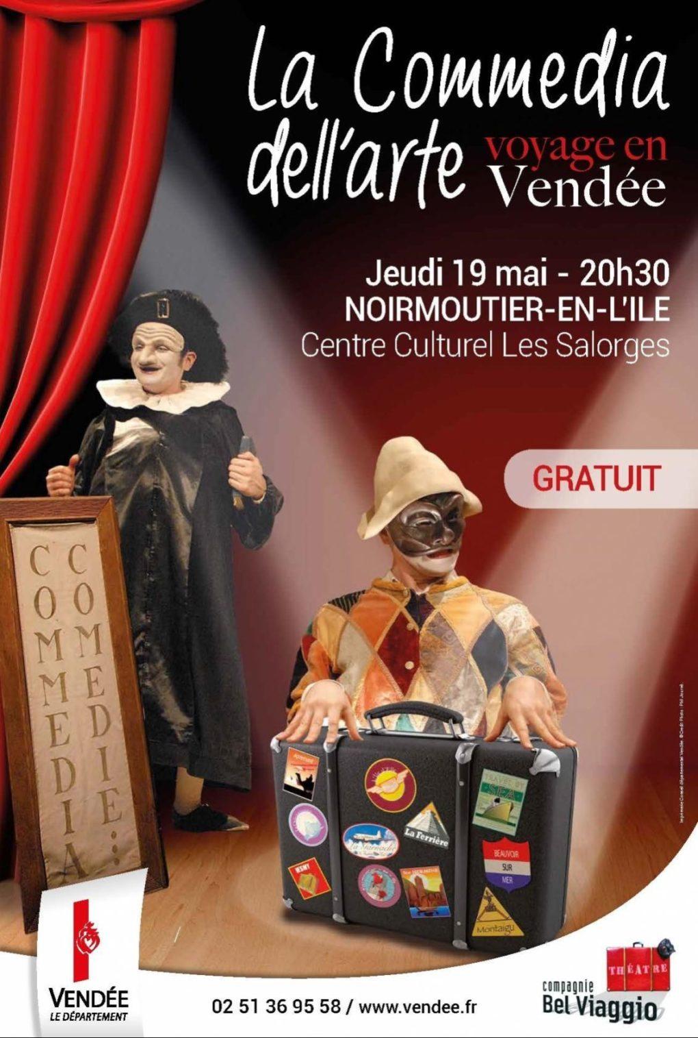 La Commedia dell arte voyage en Vendée Noirmoutier-en-l'Île