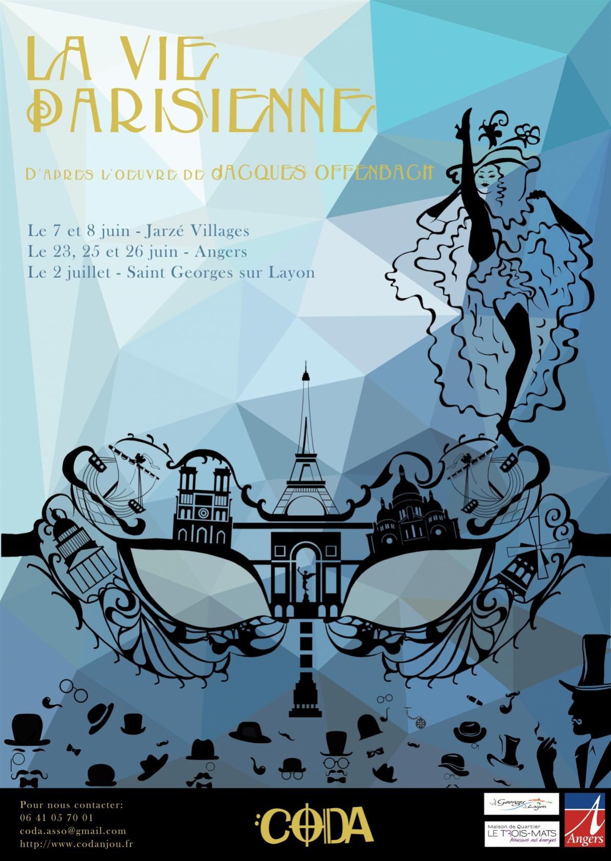 La vie Parisienne de Jacques Offenbach Saint-Georges-sur-Layon