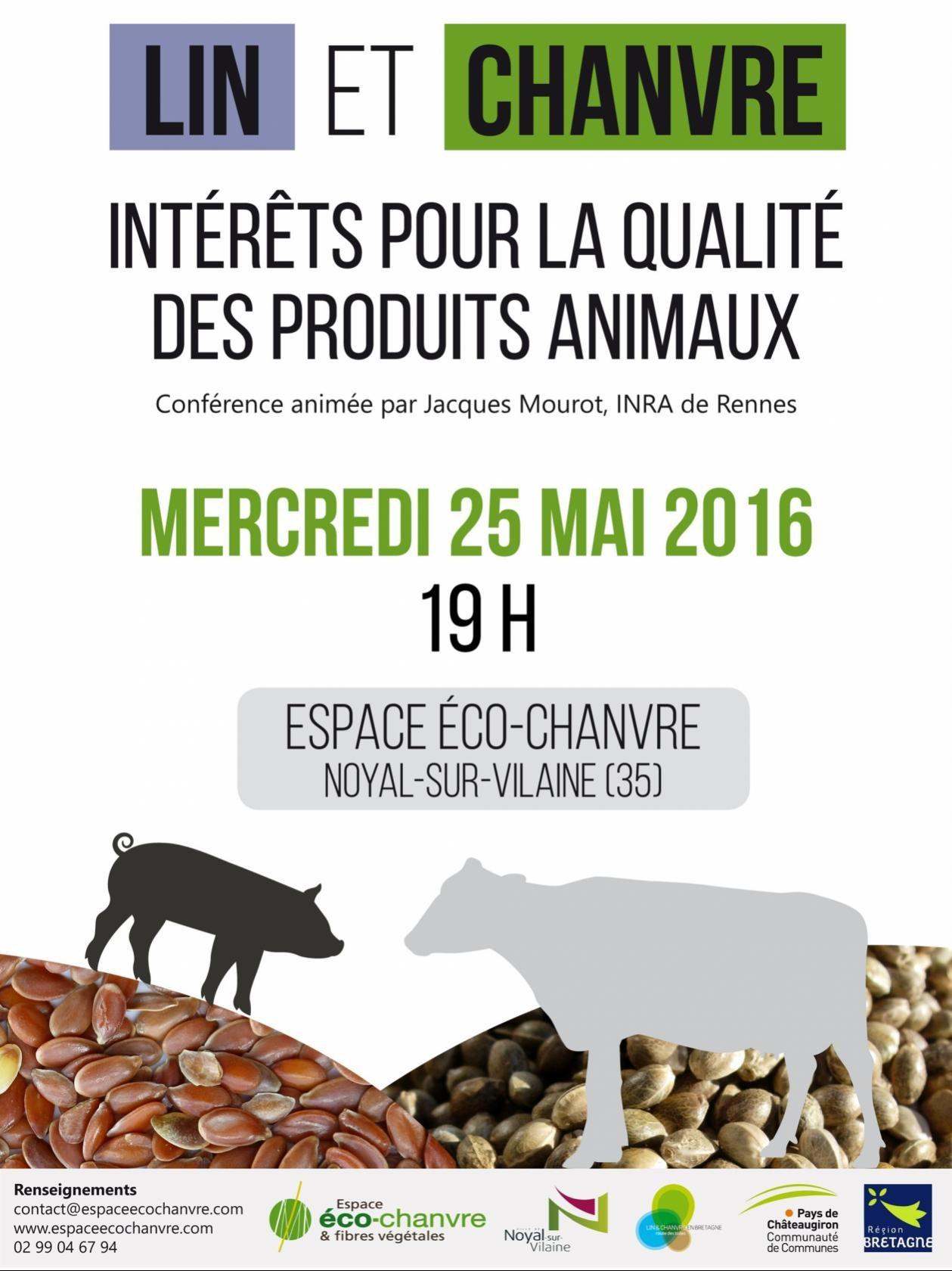 Lin et chanvre, intérêts pour la qualité des produits animaux Noyal-sur-Vilaine