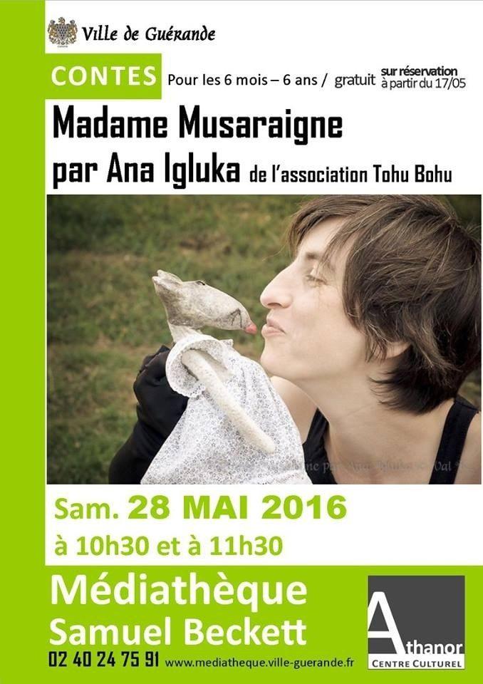 Madame Musaraigne par Ana Igluka de l'association Tohu Bohu Guérande