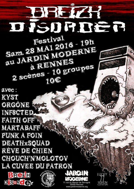 Mass productions présente le festival Breizh Disorder Rennes
