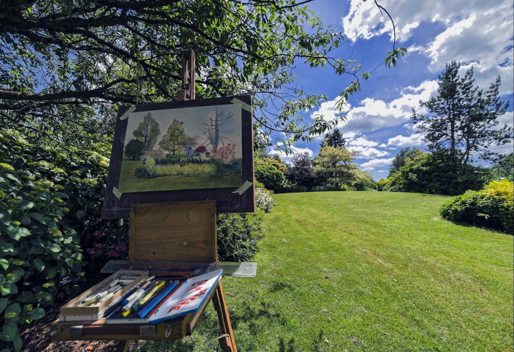 Peintres aux jardins Colombiers-du-Plessis