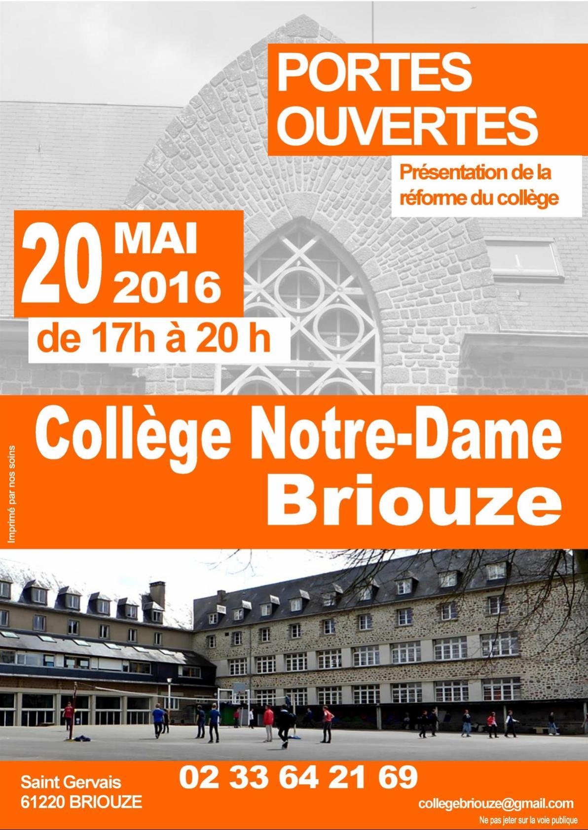 Portes ouvertes au collège Notre-Dame Briouze
