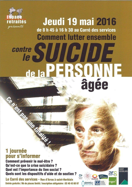 Prévention du mal-être et du suicide chez la personne âgée Saint-Herblain