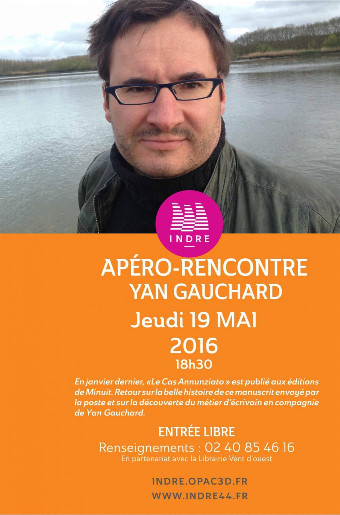 Rencontre avec l'auteur Yan Gauchard Indre