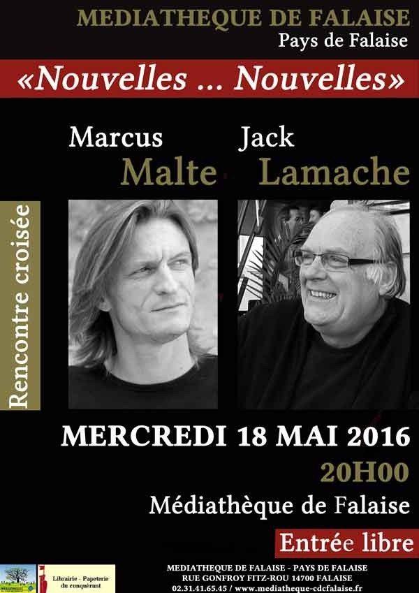 Rencontre croisée : Marcus Malte et Jack Lamarche Falaise