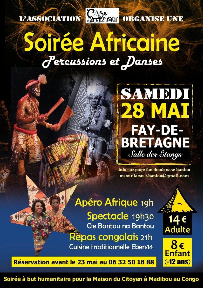 Soirée Africaine - Percus & Danse Fay-de-Bretagne