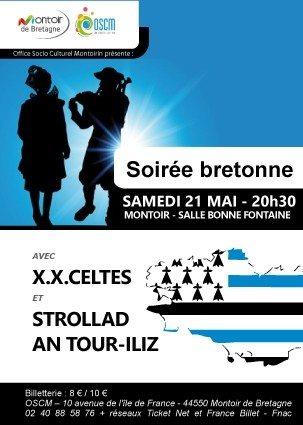 Soirée bretonne avec X.X.Celtes - Strollad Tour An-Iliz Montoir-de-Bretagne