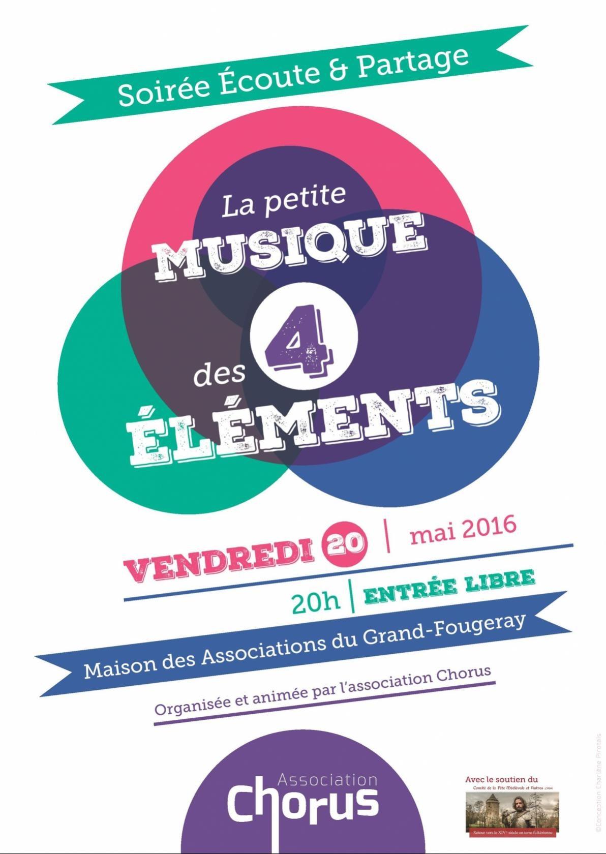 Soirée écoute-partage : la petite musique des quatre éléments Grand-Fougeray