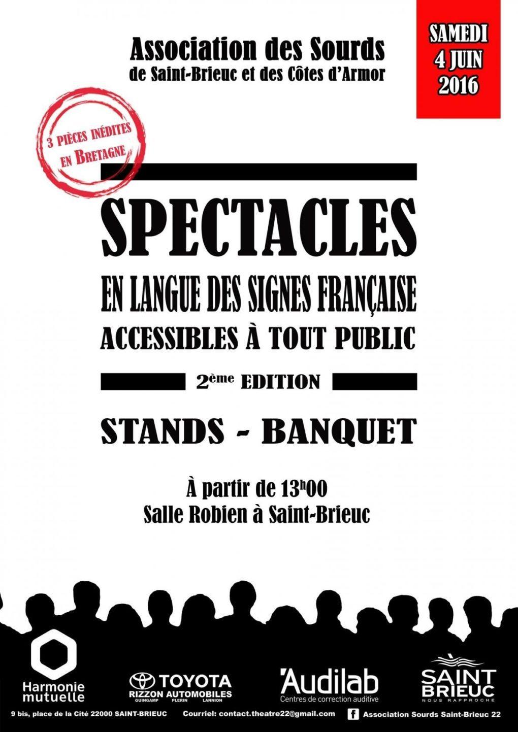 Spectacles en langue des signes Saint-Brieuc