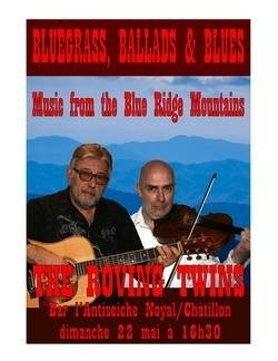 The Roving Twins, concert de bluegrass Noyal-Châtillon-sur-Seiche